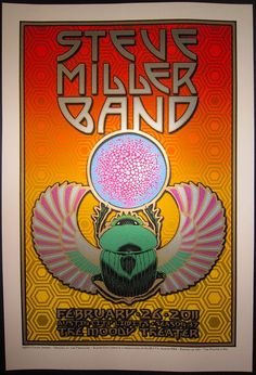 Steve Miller Band, live on Austin City Limits Poster by Chuck Sperry Vintage Concert Posters, Vintage Posters, Art Posters, Steve Miller Band, Rock Band Posters, Rock N Roll, Classic Rock Bands, Band Wallpapers, Old Rock