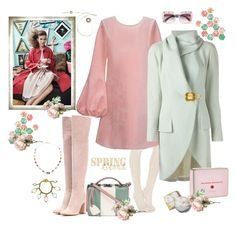 """""""Soft Spring"""" by juliabachmann ❤ liked on Polyvore featuring Free People, Cynthia Rowley, Gianvito Rossi, Mark Cross, John Galliano, Chanel, Ippolita, Gucci and Orla Kiely"""