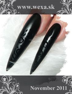 Black Matt Nails