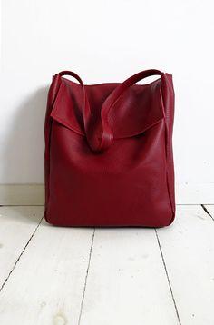 FOKS FORM Tote Bag 05, Minimal leather tote bag, handbag, shoulder bag