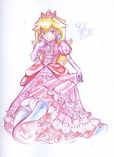 Princess Peach. This is so pretty! I love the colors :)