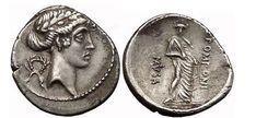 Ancient Coins - Q,POMPONIUS, POLYMNIA - MUSE of RHETORIC, 66 BC. Silver Denarius. Apollo. Rare