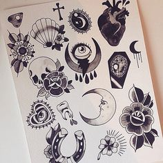 awesome Tattoo Trends - Black heart Is a good shape to cover up the sugar skull. Kunst Tattoos, Body Art Tattoos, Hand Tattoos, New Tattoos, Tattoo Drawings, Print Tattoos, Ship Tattoos, Arrow Tattoos, Tattoo Sketches