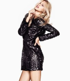 gorgeous black sequin dress from h