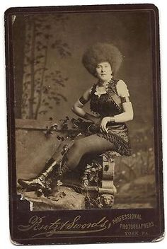 19th American Actress Cabinet Card Circassian Beauty Photo Erotic New York Help | eBay