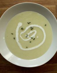 In honor of Julia Child's birthday, you should make her favorite soup.  Adapted from a version of Vichyssoise served at RIS in DC. @Mollymae Metheny