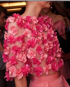 Just in from New York Fashion Week for Spring 2014! We're seeing lots of pinks - especially Hot Pink! Also, stunning applique details. Expect #MotheroftheBrideDresses to reflect this trend.