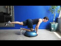 This BOSU glutes workout will target the glute maximus and medius to strengthen and firm the butt. Use a mat if you don't have a BOSU. Bosu Workout, Toning Workouts, Fun Workouts, Fitness Gym, Fitness Tips, Fitness Classes, Bodybuilder, Balance Ball Exercises, Body Muscle Anatomy