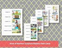 Print your own book of mormon scripture mastery flash cards!  These are so fun!   I love the pictures!