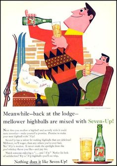 'Highballs at the Lodge', Highball Cocktail ad Funny & Gay Vintage Advertising. Retro Advertising, Retro Ads, Vintage Advertisements, Vintage Ads, Vintage Designs, Vintage Stuff, Retro Cartoons, Vintage Food, Vintage Graphic
