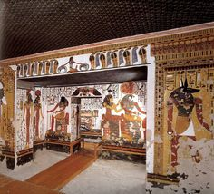 "Tomb of Nefertari, (wife of Ramses II) the ""Sistine Chapel of Ancient Egypt"", discovered by Ernesto Schiaparelli in 1904, Valley of the Queens, Theben. Astrogeo. pos.: located in 2 earth signs. Defensive, self protective Virgo a typical indicator for egyptian tombs in regard to the protection of tombs from grave robbers & highly profitable earth sign Taurus indicator for local centres, money and wealth. Valid for field level 4 which describes the atmosphere of the tomb itself"