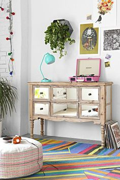 6-Drawer Mirrored Dresser #urbanoutfitters