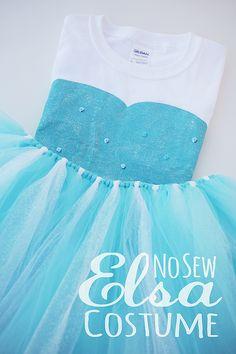 DIY No Sew Elsa Costume