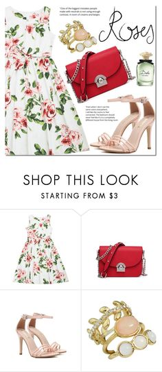 """""""Floral dress"""" by mada-malureanu ❤ liked on Polyvore featuring Dolce&Gabbana"""