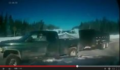 A screen capture moments before a highway crash in Northern Ontario shows what appears to be the driver of a pickup truck on a cellphone. Dr...#tbay