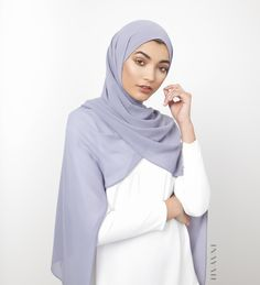 INAYAH | Blue Granite Soft Crepe #Hijab - www.inayah.co