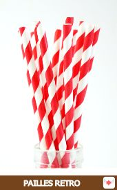 pailles rétro papier rouge #red #rouge #circus #cirque #party #birthday #sweettables #anniversaire #partyideas
