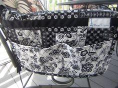 walker bag caddy bag crafts bag by clairestjames13 on Etsy, $25.00