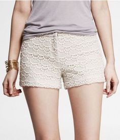 """2 1/2"""" CROCHETED LACE SHORTS 