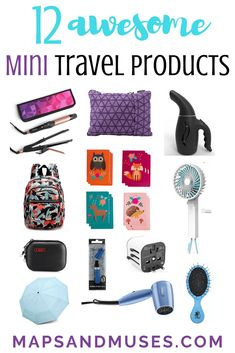 12 Awesome Mini Travel Products to Bring on Your Next Trip Mini + travel go together like dark chocolate and peanut butter. Check out 12 awesome mini travel products you should bring on your next trip: www. Packing List For Travel, Packing Tips, Budget Travel, Camping Packing, Best Packing Cubes, Smart Packing, Packing For Europe, Suitcase Packing, Travel Advice