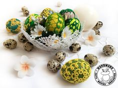 Crochet Ornaments, Handmade Ornaments, Handmade Home, Etsy Handmade, Easter Toys, Easter Table Decorations, Lace Decor, Easter Baskets, Shades Of Green