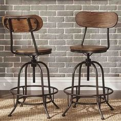 Shop for TRIBECCA HOME Berwick Iron Industrial Adjustable Counter-height Chair (Set of 2). Get free shipping at Overstock.com -…