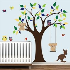 Childrens Jungle Animals Wall Decals Stickers, Nursery Wall Decor, Kids  Room Decor, Removable Wall Decals | Bebe Diva | Pinterest | Jungle Animals,  ...