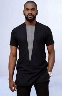 Vicky African men shirt with matching pant African Wear Styles For Men, African Shirts For Men, African Dresses Men, African Attire For Men, African Clothing For Men, African Style, African Women, Fashion Male, Nigerian Men Fashion