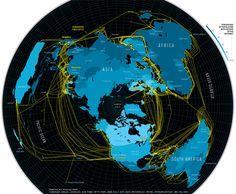 Submarine fiber optic cable map. Sweet