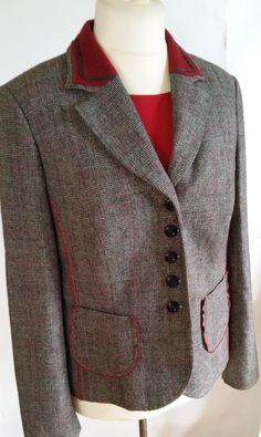 Schneider Salzburg  Button Front Jacket Gray Size 16 #Schneider #BasicJacket