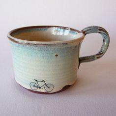 Bike Mug by JuliaSmithCeramics