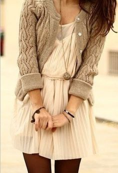 Leggings, dress, cardigan. Perfect!