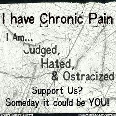 I have chronic pain I am....