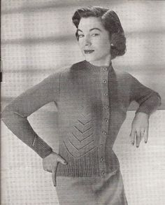 61e8bcd245b7e Items similar to Vintage Knitting Pattern (12 Page Patons Booklet)  1940s  Ladies Cardigan