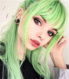 Aurora Green hair dye color by lol.ivi - #haircolor #hairdye #hairstyle #greenhair