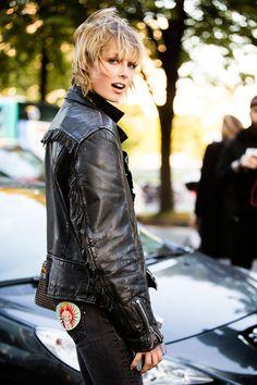 Edie Campbell Street Style in Paris Fashion Week S/S 2016