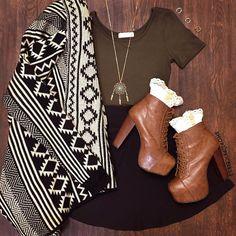 Echo Aztec Cardigan #Fall #Fashion #aztec #cardigan #ootd #ShopPriceless