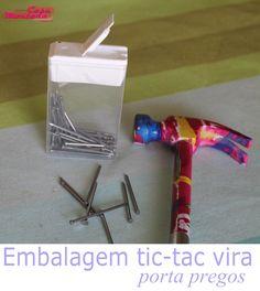 Tic tac box into a nails storage