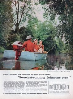 35 best vintage johnson outboard motor ads images on pinterest johnson outboard motors ad from the may 13 1957 issue of life magazine ad fandeluxe Image collections