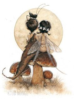 Fairies - Jean-Baptiste Monge Nanu... This reminds me of us... I have the dead leaf you have the wings!