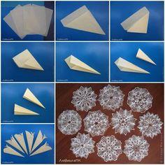 DIY Snowflakes  : DIY make Paper Snowflake Method