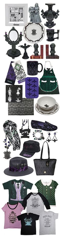 A New Collection of Ghoulishly Grand Goods Celebrates the Haunted Mansion's 45th Anniversary.  I want it all!