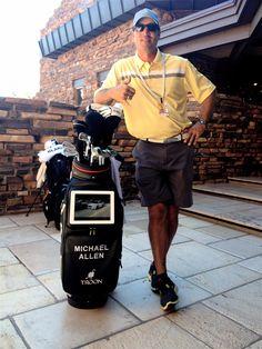 2012 Schwab Cup Michael Allen debuts the ADAMS Tablet bag — at Desert Mountain Golf Club - Cochise.