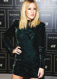 Ellie Goulding at Balmain x H&M...;