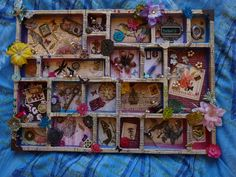 Nature Inspired Altered Printer's Tray by CherryblossomTears, £55.00