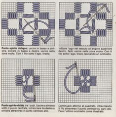 Come si ricama l'Hardanger Hardanger Embroidery, White Embroidery, Embroidery Stitches, Embroidery Patterns, Machine Embroidery, Chain Stitch, Cross Stitch, Hand Embroidery Tutorial, Drawn Thread