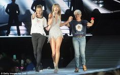 Taking the stage:Prior to her lone trip to the grocery store, Julia joined the epic roster of surprise guests on Taylor Swift's ongoing 1989 World Tour, as she took the stage with Joan Baez on Saturday night