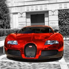 Chrome Red Bugatti Veyron