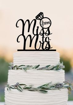 From Miss to Mrs wedding cake topper,diamond ring wedding decoration, – DokkiDesign