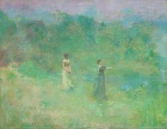 Thomas Wilmer Dewing (Am. 1851-1938), Summer, vers 1890, huile sur toile, 107 x 137,8 cm, Smithsonian American Art Museum, Washington wetreesinart Follow